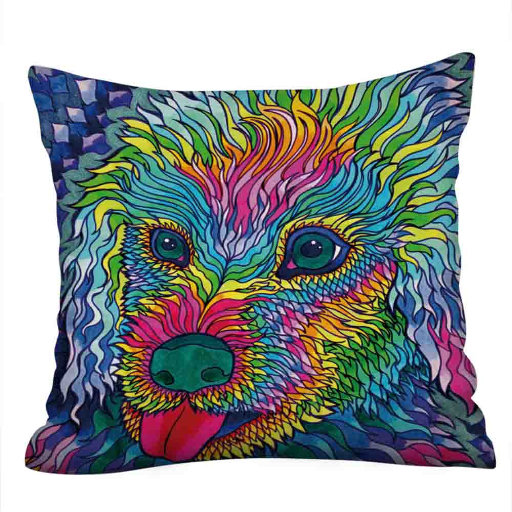 Cute Cat Sofa Bed Home Decoration Festival Pillow Case Cushion Cover Suitable For Coffee Library Bookstore # YS