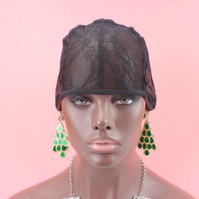 Бесплатная доставка еврейский Сетки для волос Средний Размеры черный Цвет 5 шт./лот парик Кепки решений ткачества Искусственные парики с регулируемым ремешком на сзади