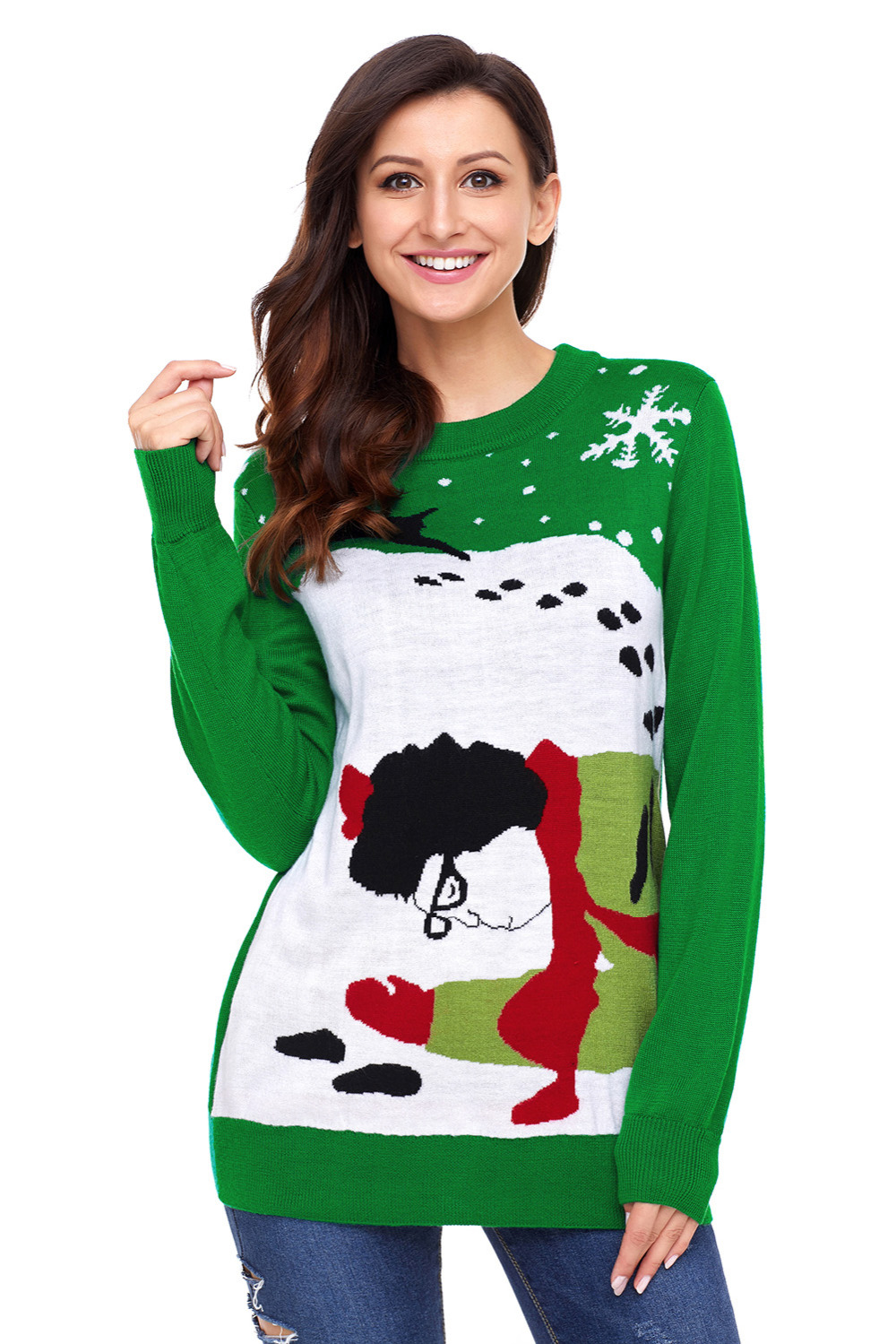 2018 New Arrival Winter Women\'s Casual Red Green Got Over By ...