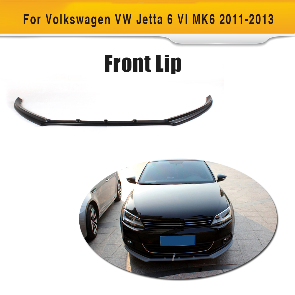 carbon fiber front bumper lip spoiler For VW jetta 2011-2013 Black primer FRP Front lip 4pcs set wrc bumper strip carbon fiber