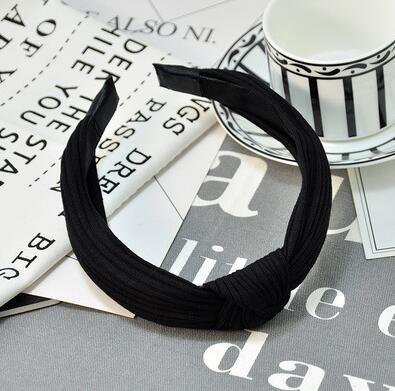 1 pc femmes lunette mode Style coréen bandeau femme filles décontracté élégant tissu croix couleur uni cheveux accessoires chapeaux 13