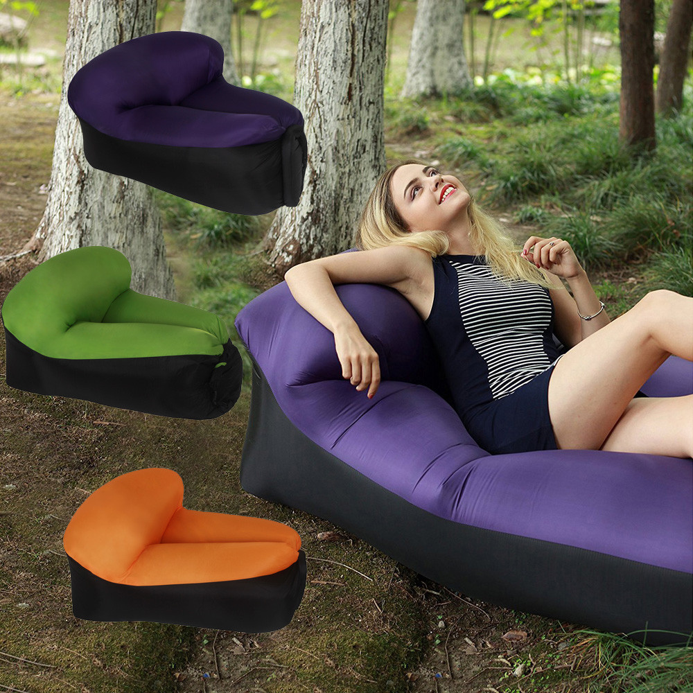 NEW Portable Durable Quick inflatable sofa Lounger Chair Leisure sleeping bags hiking Camping bed beach pool party lowest price holiday beach bed outdoor furniture rattan bed sofa bed terrace sun bed beach pool leisure patio balcony lounge sofa with tent