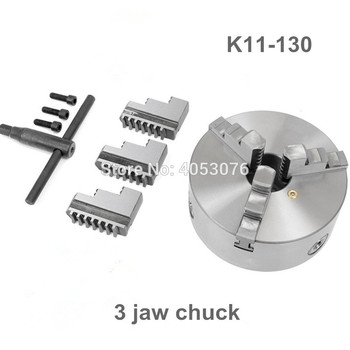 K11-130 3 jaw scroll chuck 130MM manual lathe chuck 3-Jaw Self-centering Chuck