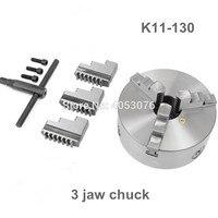 Mandril manual do torno do mandril 3 maxila do rolo de K11 130 3 maxilas mandril de 130mm auto centralização|Mandril| |  -