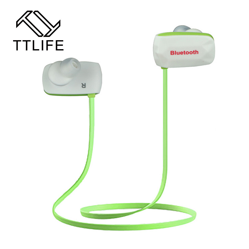 TTLIFE Bluetooth Headphones Stereo Wireless Bluetooth Earbuds for Sport Running Gym Exercise Sweatproof CRS4.1 Noise-Cancelling