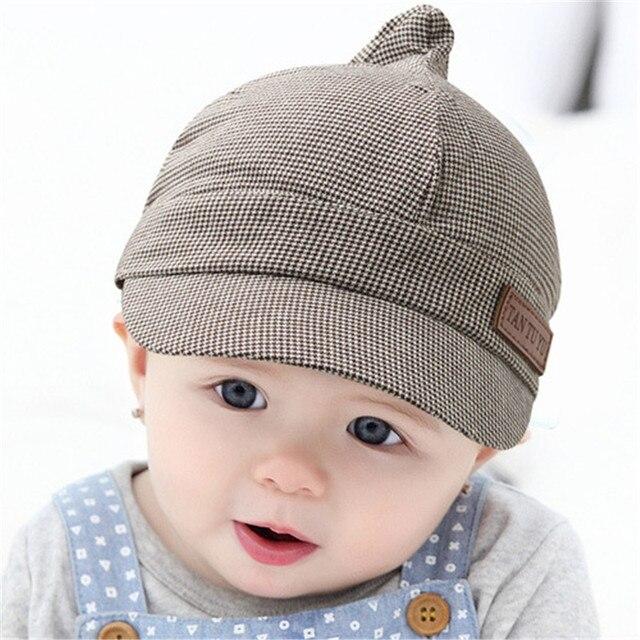2016 Nouveau Bébé Béret Chapeau Coton Unisexe Garçon Fille Plaid Caps Enfants  Casquette de baseball Bébé 5192890f014