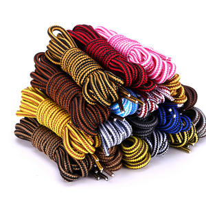 Shoelaces Boot Round Striped Outdoor-Sport Men Double-Color Women 1pair for And Unisex