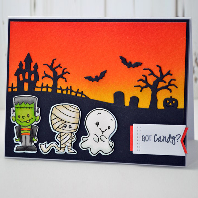 cute halloween monster clear stamps for diy scrapbooking paper card