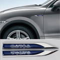 Accessory For Volvo S60 V60 D80 XC60 XC90 Modified Sport Styling Car Side Wind Blade Shape Fender Metal Decorative Sticker