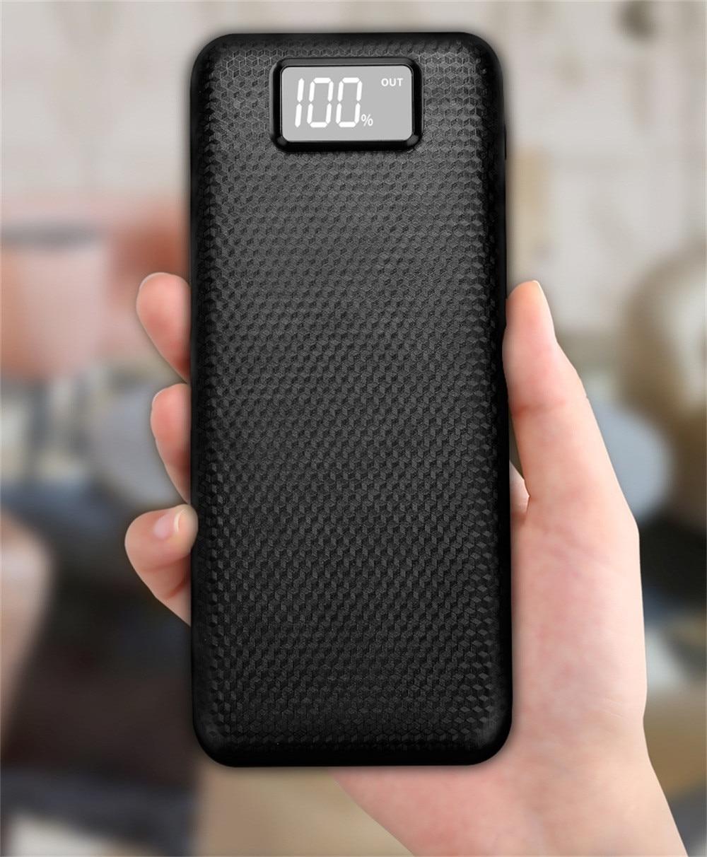 New 5V 2A Dual USB No Battery 20000mah Power Bank Case 8x18650 Battery Charger DIY Box Case Kit LED Light For Smat Phone 10Jun 7