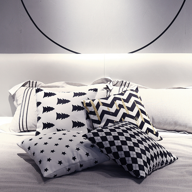 Morigins 2018 New Fashion Women s Pillow Cases Geometric Pillowcase Cotton  Pillow Cover Bedroom 18x18 Inches Home ec06030a64
