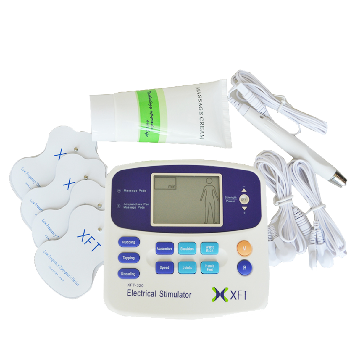 New Electrical Stimulator Massager XFT-320 Dual Tens Therapy Machine Digital Body Relaxation Unit With Electrode Pad For Healthy 2pcs lot electrical muscle stimulator massager digital therapy massage device xft 320 dual tens unit full body health care