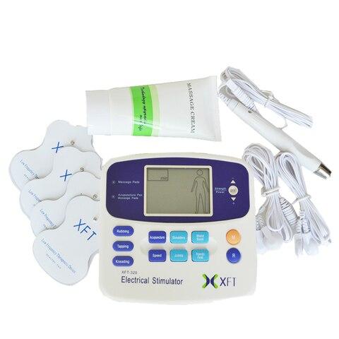 novo estimulador eletrico massageador relaxamento corporal xft 320 dual dezenas terapia maquina digital da unidade