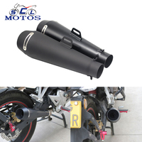 Sclmotos 51MM Motorcycle Scooter Exhaust Pipe Moto Escape GP Moto Racing For M4 For Most Motocross Dirt Bike Cross ATV Z750 CBR