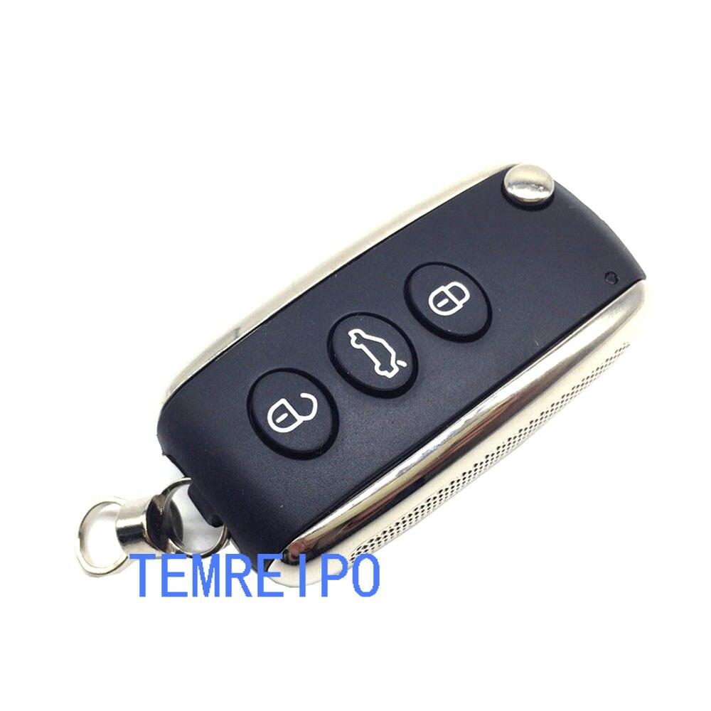 5 pcs/lot Flip pliant clé à distance Shell pour Bentley voiture clé Case de remplacement couverture clé Shell