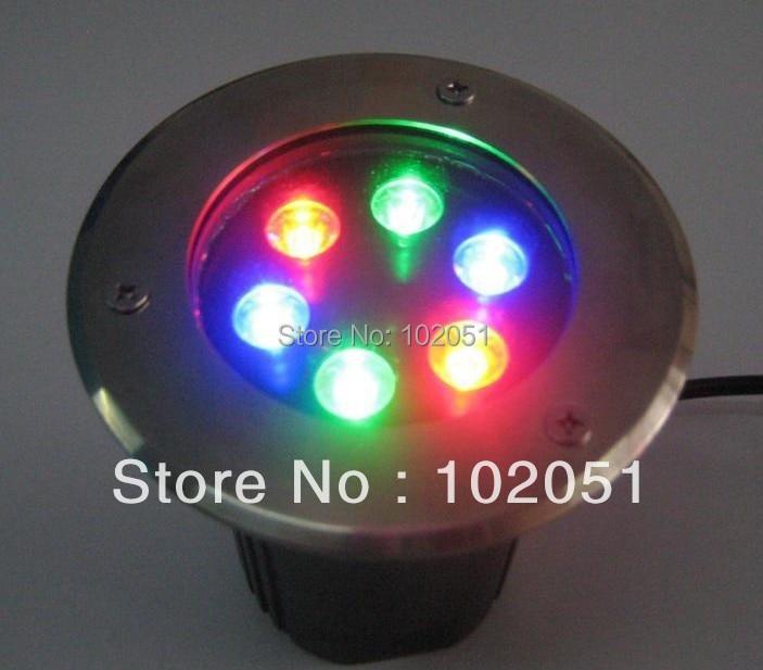 ФОТО 6w Waterproof RGB Led natatorium lighting buried lamp underground light