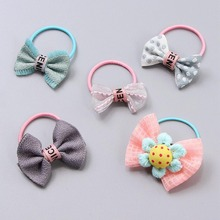 New Arrival Cute candy color Flower Girls Children Hair Rope Elastic Bands Gifts for girls