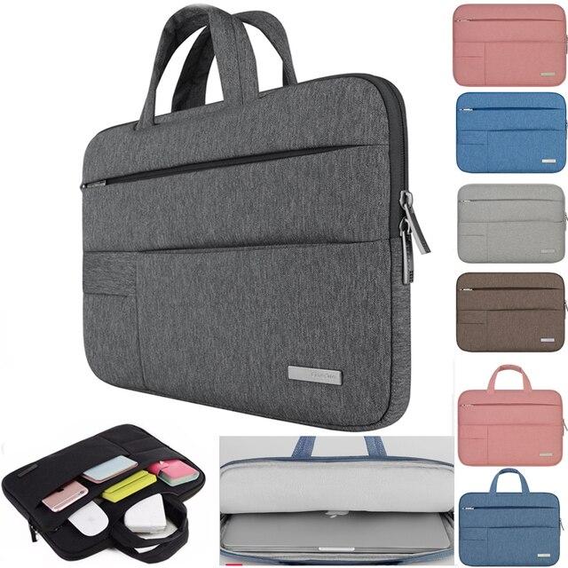 Hommes femmes Portable sac à main pour ordinateur Portable Air Pro 11 12 13 14 15.6 pochette d'ordinateur/étui pour Dell HP Macbook Xiaomi Surface pro 3 4