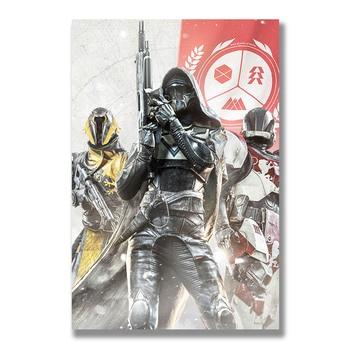 Плакат гобелен Destiny 2 материал шелк
