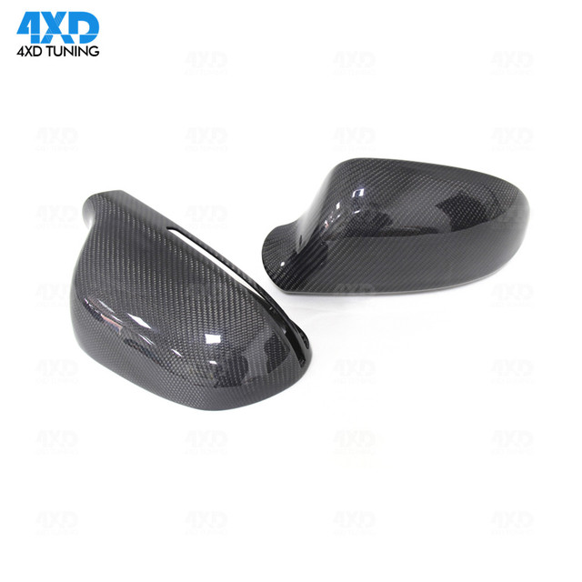 For Audi A4 B8 A5 S5 Mirror Cover A6 S3 Q3 Carbon Fiber Rear side view Mirror Cover With&Without Lane Assist 2008 2009 2010-2015