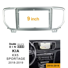2Din Car DVD Frame Audio Fitting Adaptor Dash Trim Kits Facia Panel 9inch For Kia KX5 SPORTAGE 2018-2019 Double Din Radio Player