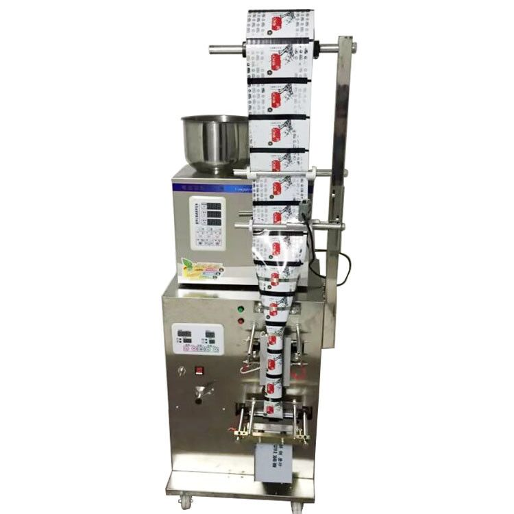 New 2-200g full automatic tea bag weighing filling packaging machine with back sealer zonesun 2 200g tea candy hardware nut filling machine automatic powder tea filling machine