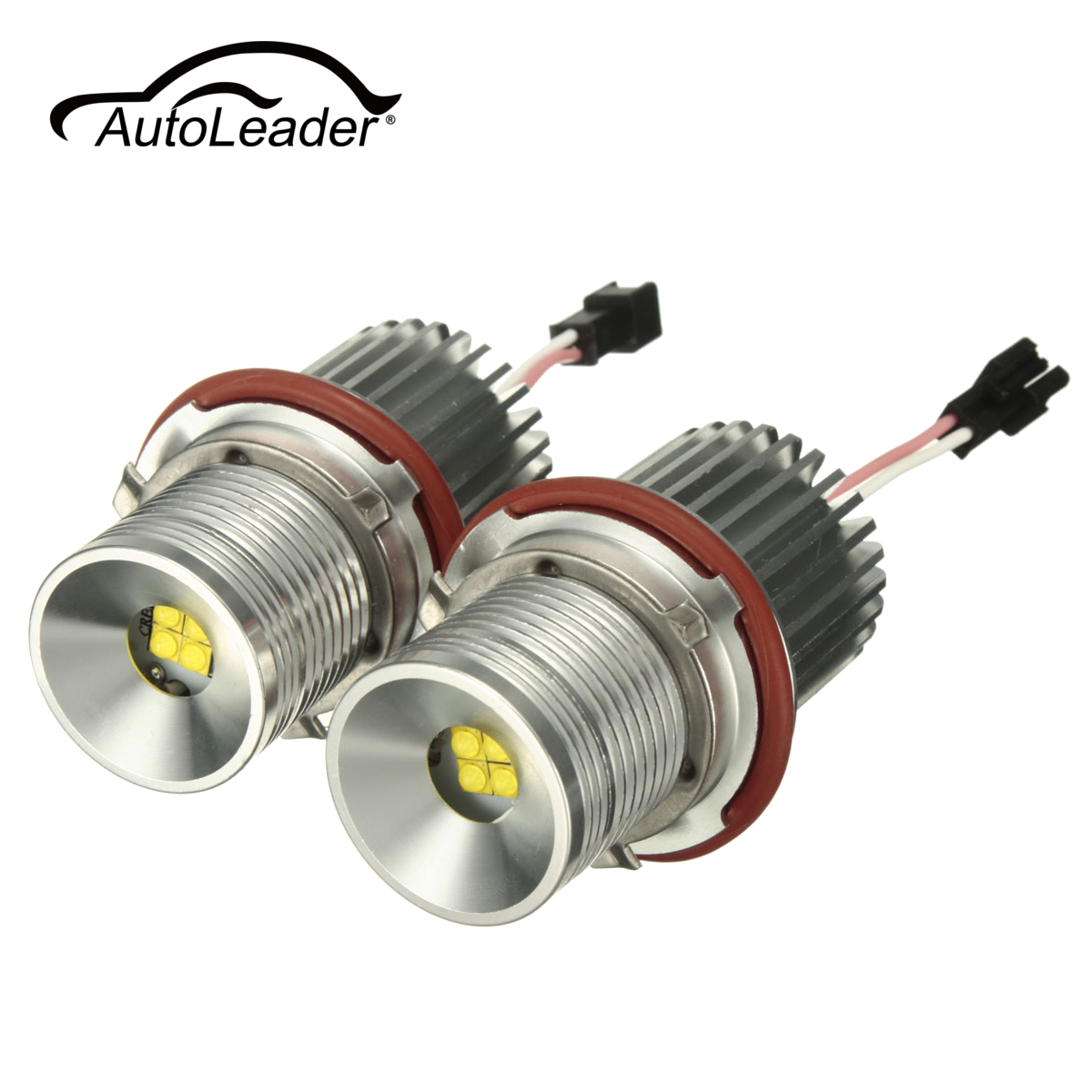 AutoLeader 40W LED Chip LED Marker Angel Eyes Halo Ring Light Lamp Bulbs  Error Free White For BMW E87 E39 E60 Headlight