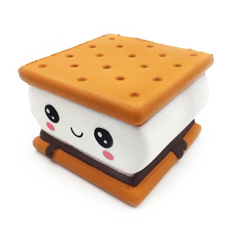 Cartoon Chocolate Biscuit PU Toys New Fashion Slow Rising Cream Scented Original Package Kids Gift Fashion Squeeze Toy CL5644