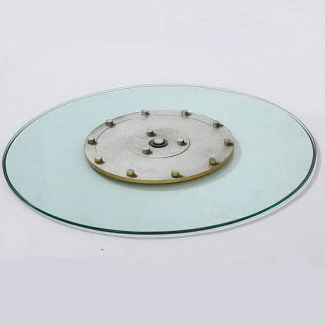 Us 71 25 Off Hq Gl01 Tempered Gl Top 70cm 80cm 90cm Lazy Susan With Turntable Swivel Plate For Dining Table In Furniture Accessories