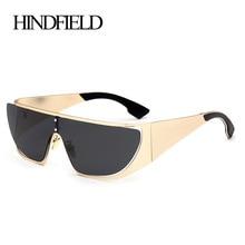 HINDFIELD модные негабаритные солнцезащитные очки Брендовые дизайнерские очки винтажные Ретро женские очки Oculos De Sol