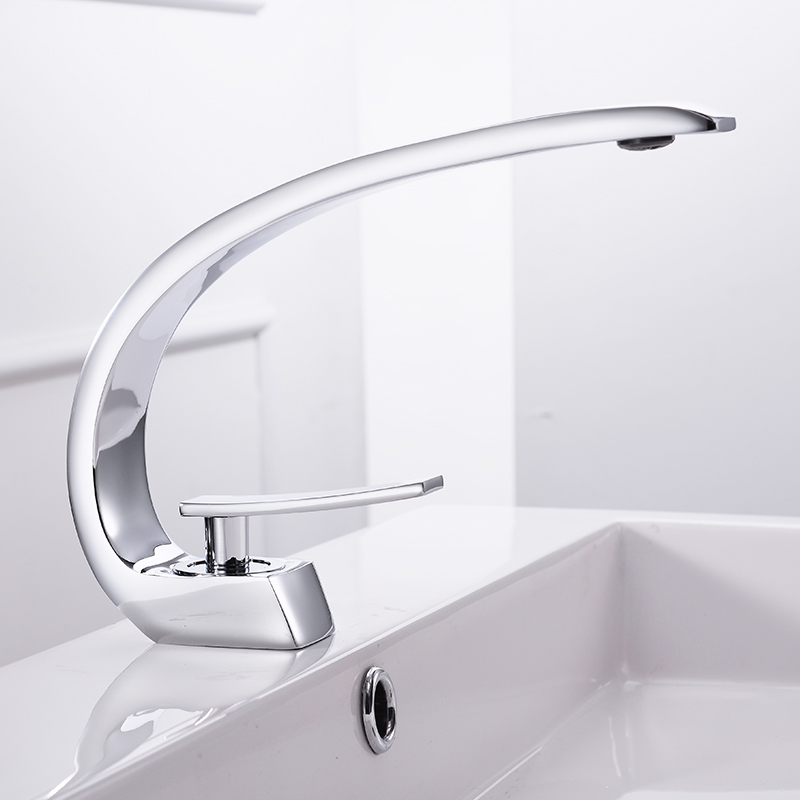 Basin Faucets Modern Bathroom Mixer Tap Brass Washbasin Faucet ...