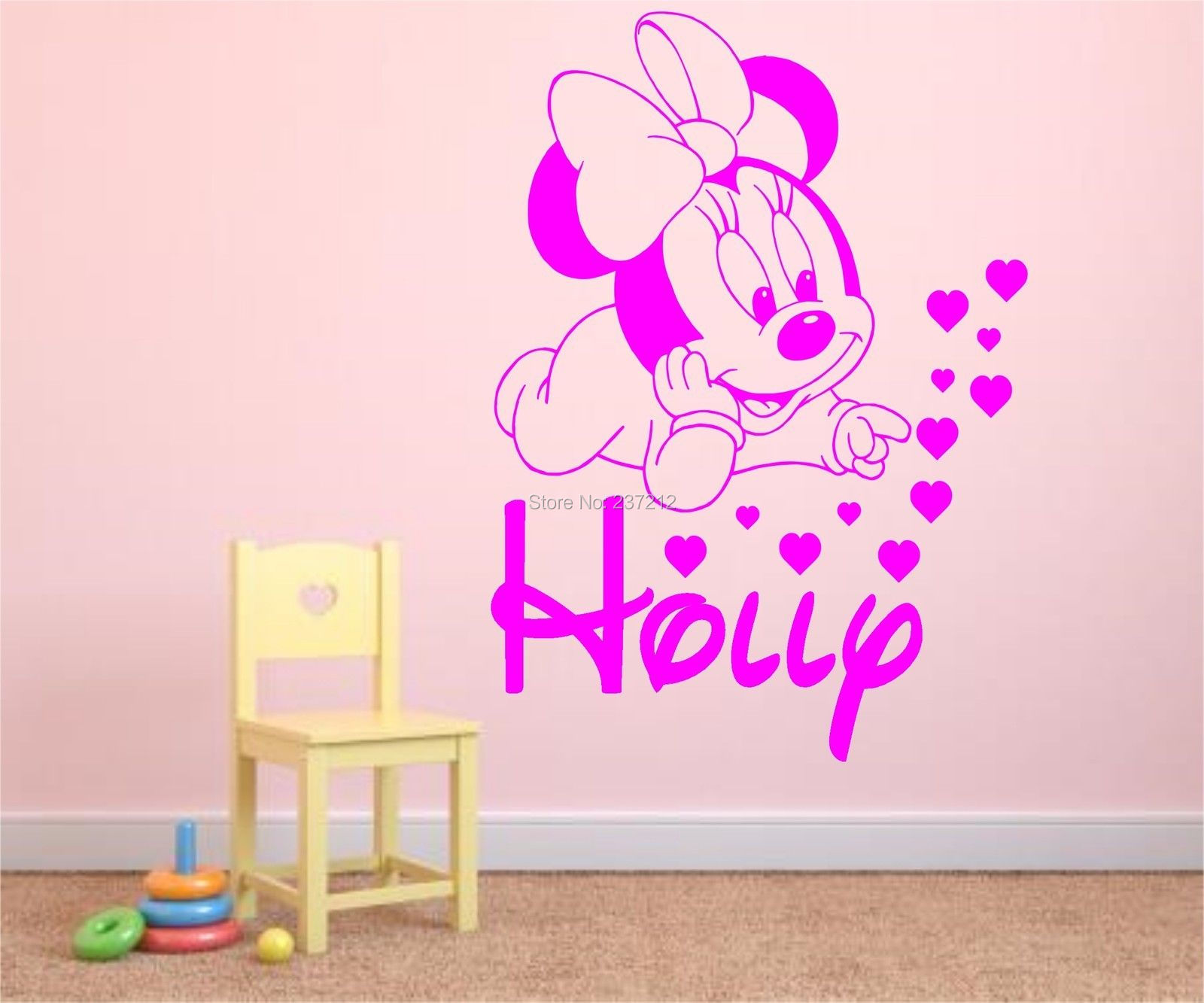 Minnie mouse wall sticker gallery home wall decoration ideas minnie mouse vinyl wall art 1000 ideas about mickey mouse wall personalised baby minnie mouse vinyl amipublicfo Image collections