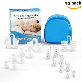 8pcs Anti Snoring Device Better Sleep Reduce Snoring Solution Health Care 4 Sizes Net Tube Style Stop Snoring For nose vents 2