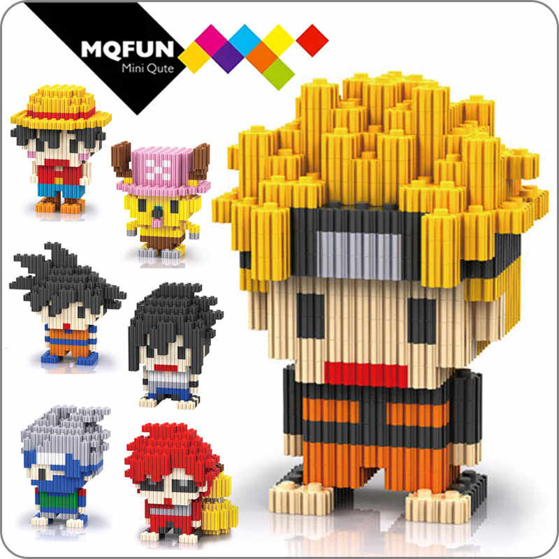 LInkgo Super hero anime de una pieza Naruto dragon ball mini figuras de acción diamante edificio bloque montaje modelo juguetes educativos