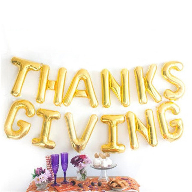 New 1set 16 inch thankfulcongrats thanksgiving specially number new 1set 16 inch thankfulcongrats thanksgiving specially number foil letters balloons birthday party decoration thecheapjerseys Choice Image