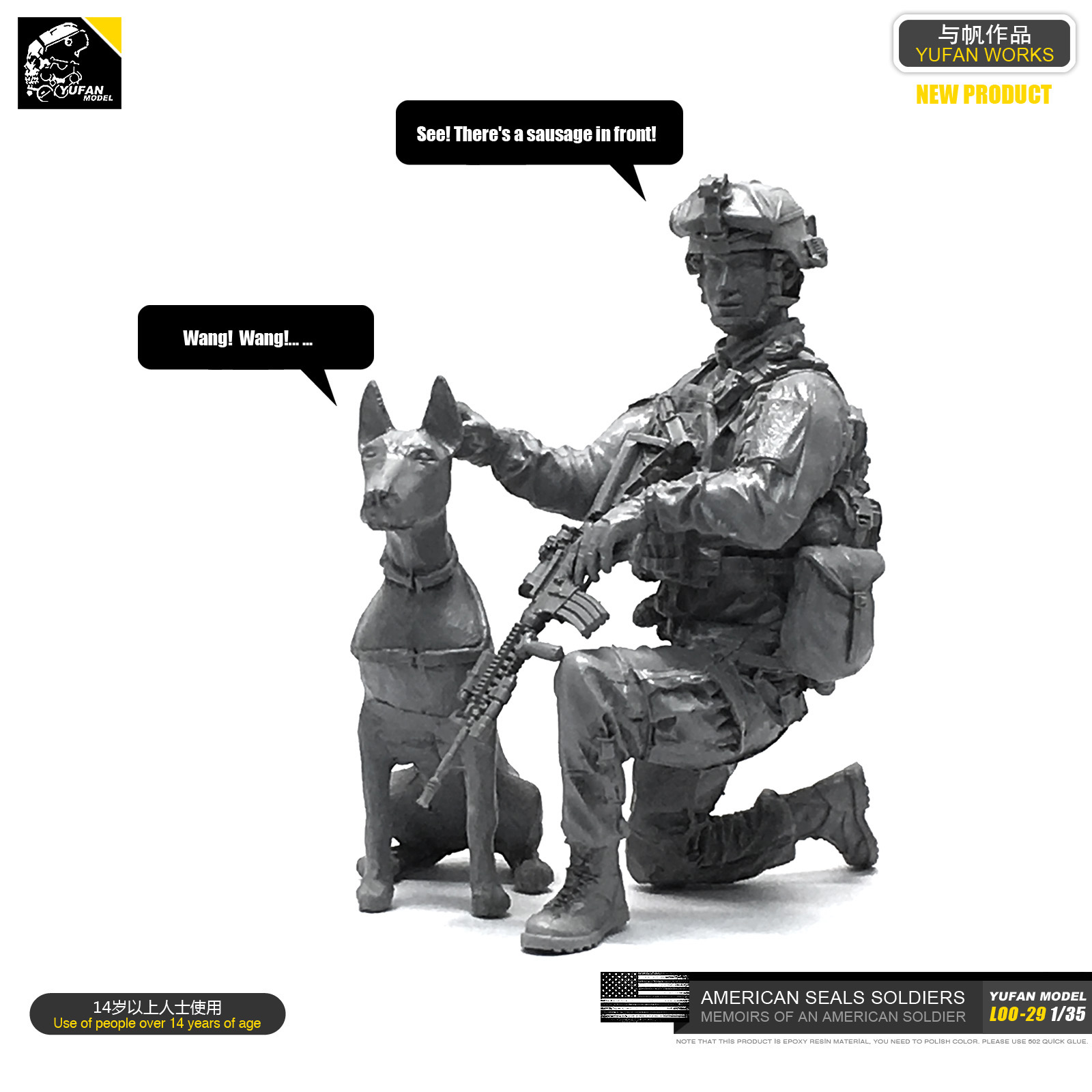 1/35 Resin Kits Figure US Marine Corps And Dog Resin Soldiers Sefl-assembled LOO-29