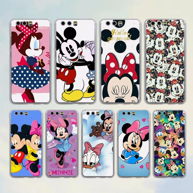 Mickey Minnie Mouse In Liefde Stijl Clear Frame Hard Mobiele