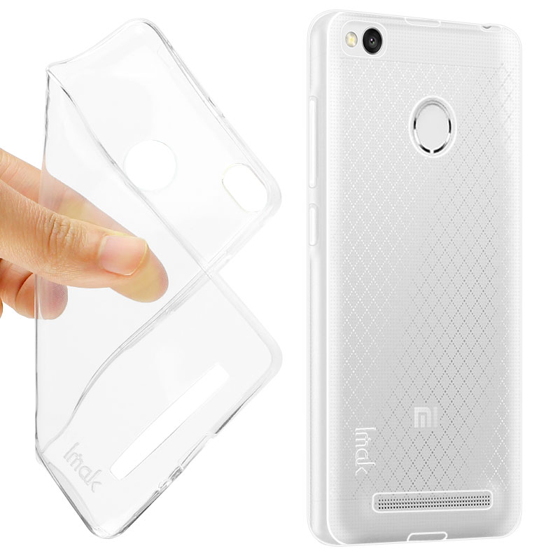 wholesale dealer dfe4d 76d2f US $3.24 |IMAK Cover for Xiaomi Redmi 3 Pro 3S Prime TPU Case Flexible  Clear Transparent Back Case Super Slim Stealth Protective Shell-in Fitted  Cases ...