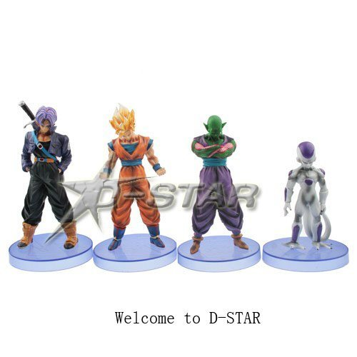 """Free Shipping Cool 5"""" Dragon Ball Z Solid Goku Trunks Piccolo Frieza The 3rd PVC Action Figure Collection Model (4pcs per set)"""
