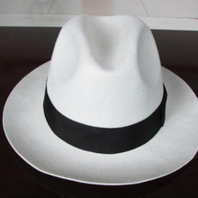 Fedora Hat White Wool Hat Big Brim Socialite Elegant Cap Female Retro