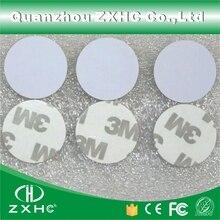 (10 pcs) rfid 125 khz 25mm t5577 스티커 재기록 가능한 접착 성 동전 카드 사본을위한 꼬리표 둥근 모양 pvc 물자