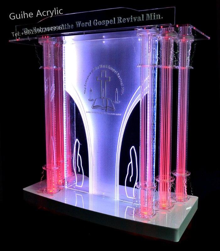 Apparecchio di Display Acrilico Podio Con Inclinazione Grande Lettura Superficie Reception Scrivania Mobili Per Ufficio