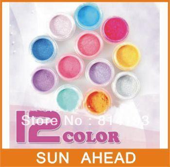 Promotion! 2018 12 Colours nail Acrylic Paerl Powder Dust pigment powder Nail Art Decoration 63#