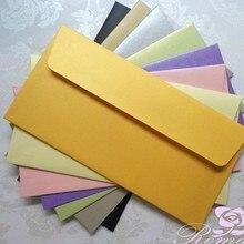40 шт толстый шток 300gsm конверт#5 перламутровые бумажные конверты Пригласительные открытки для бизнеса конверт 110*220 мм