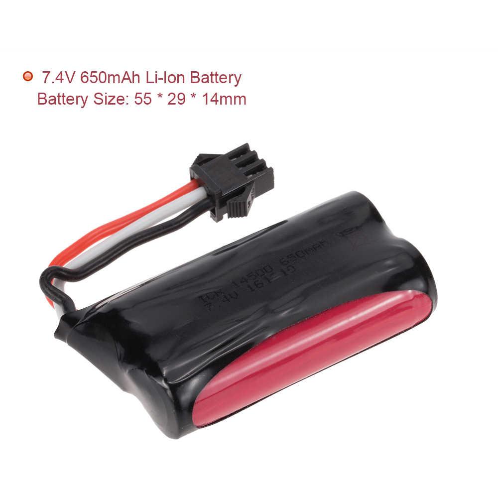 Оригинальный 7,4 V 650 mAh литий-ионный аккумулятор с USB зарядным устройством для SUBOTECH BG1510 BG1511 RC автомобиля