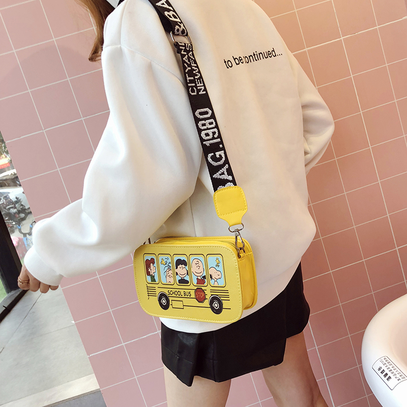Ins 2019 New Arrival Double-sided Small Square Bag Broadband Simple Wild Crossbody Bag