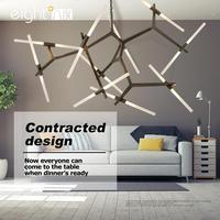 Modern LED chandelier living room suspended lighting loft deco fixtures restaurant hanging lights Nordic bedroom pendant lamps