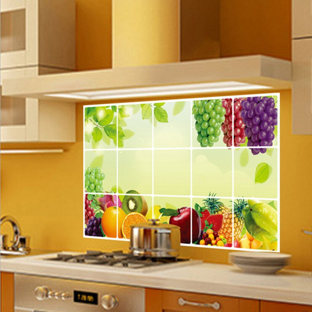 Funky Decorative Kitchen Wall Tiles Vignette - The Wall Art ...