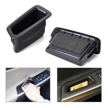 DWCX 2 шт. ABS Пластик Передней Двери Контейнера Подлокотник Коробка Для Хранения Для VOLVO S60 V60 2010 2011 2012 2013 2014 2015