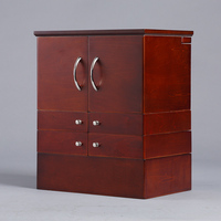 Selling Desktop Cosmetic Storage Cabinet With 90 Degree Rotating Mirror Box Large Solid Wood Cabinet Makeup